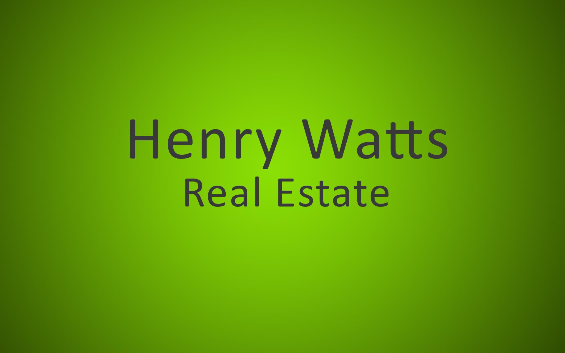 Henry Watts